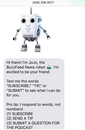 Jojo the podcast bot by BuzzFeed News