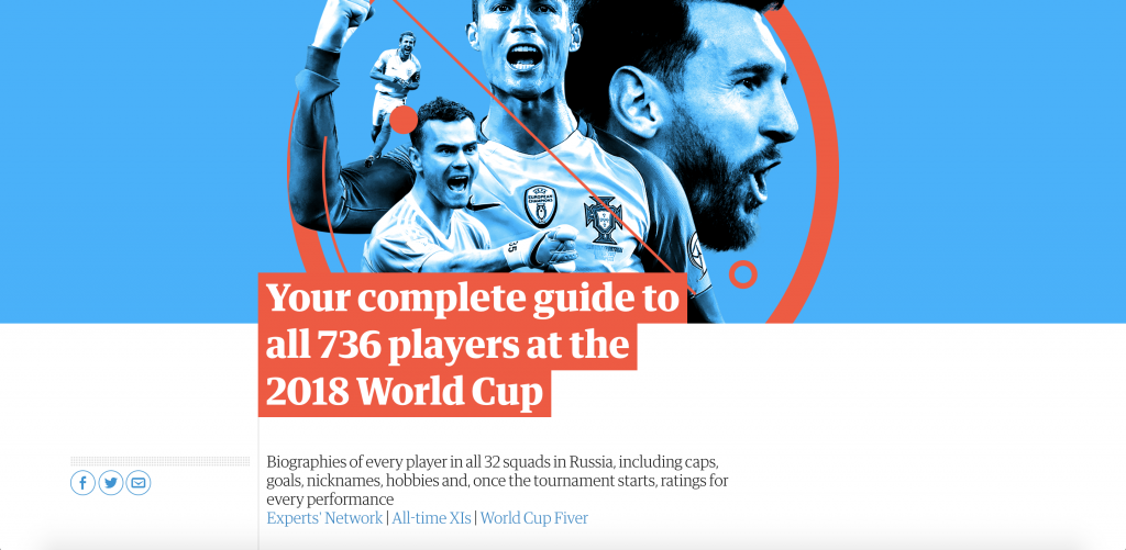 World Cup 2018: the complete guide to players by the Guardian