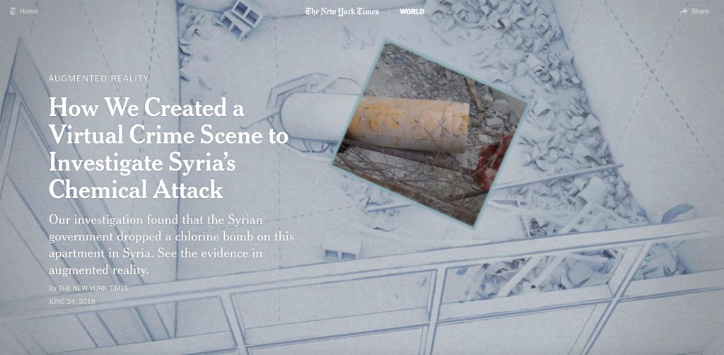 One Building, One Bomb - AR investigation by The New York Times