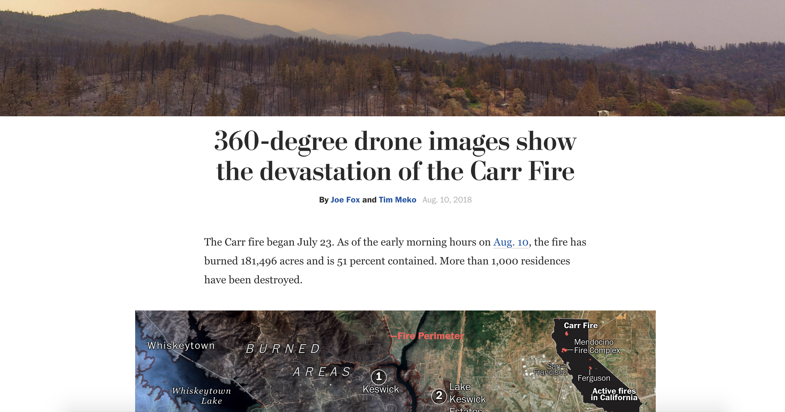 Wash Post Carr Fire graphics