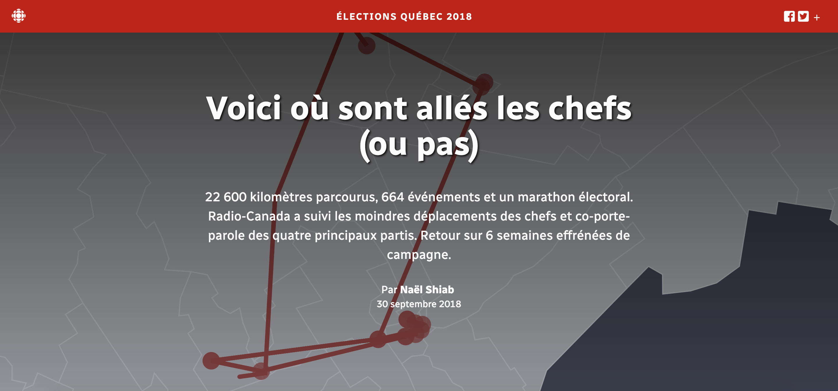 campaign data quebec elections by radio canada