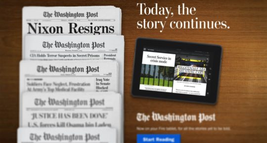"Backdrop : Le Washington Post mise sur le format ""news feed"""